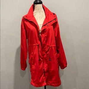 Forever 21 Red Wind breaker / Rain jacket